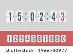 white scoreboard number font....