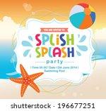 birthday card summer fun splash ... | Shutterstock .eps vector #196677251