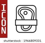 black line meat packaging steak ...   Shutterstock .eps vector #1966809331