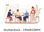 social inclusion of people in... | Shutterstock .eps vector #1966810894