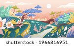 magic landscape of fantasy... | Shutterstock .eps vector #1966816951