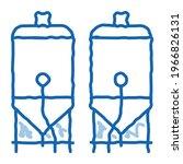 brewing barrels sketch icon...   Shutterstock .eps vector #1966826131