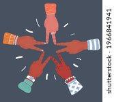 cartoon vector illustration of... | Shutterstock .eps vector #1966841941