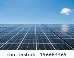 solar cell  the energy from the ... | Shutterstock . vector #196684469