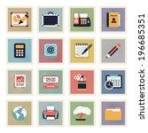 business modern flat color... | Shutterstock .eps vector #196685351