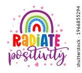 radiate positivity   cute... | Shutterstock .eps vector #1966855294