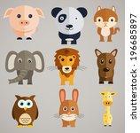 funny cartoon animals | Shutterstock .eps vector #196685897