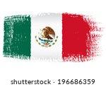 brushstroke flag mexico | Shutterstock .eps vector #196686359
