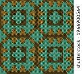 Wool Knitted Seamless Pattern....