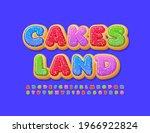 vector bright emblem cakes land ... | Shutterstock .eps vector #1966922824