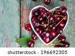 Cherries In A Heart Shaped Bowl