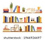 book shelves. rack books ... | Shutterstock .eps vector #1966926697