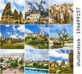 Cappadocia  Turkey. Collage...