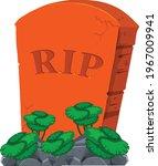 graveyard tomb vector art and...   Shutterstock .eps vector #1967009941