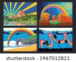 Colorful Landscapes Psychedelic ...