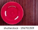 ceramic dish on wooden kitchen... | Shutterstock . vector #196701509