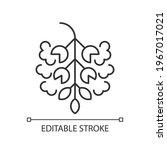 poplar tree pollen linear icon. ... | Shutterstock .eps vector #1967017021