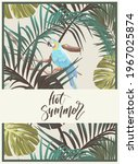 vintage tropical design with... | Shutterstock .eps vector #1967025874