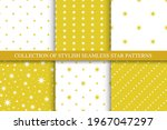 collection of vector seamless...   Shutterstock .eps vector #1967047297