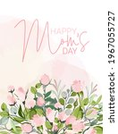 mother's day greeting card with ... | Shutterstock .eps vector #1967055727