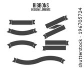 ribbons design elements. vector | Shutterstock .eps vector #196705724