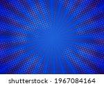 blue pop art zoom background   Shutterstock . vector #1967084164