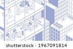 view of the office building and ...   Shutterstock .eps vector #1967091814