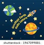 goodbye earth hello saturn...   Shutterstock .eps vector #1967099881