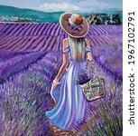 Woman In Blue Dress Standing In ...