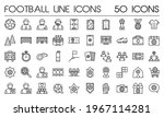 simple football icon set in...