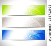 web headers  set of vector... | Shutterstock .eps vector #196713935