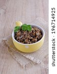 mushrooms finely chopped lying ... | Shutterstock . vector #196714925