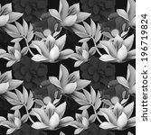 seamless tropical flower  plant ...   Shutterstock . vector #196719824
