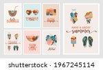 bohemian summer  modern summer... | Shutterstock .eps vector #1967245114
