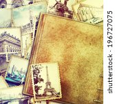 Vintage Travel Background With...