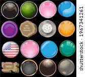16 artistic web button template