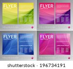 abstract vector modern flyer  ... | Shutterstock .eps vector #196734191
