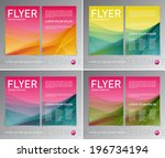 abstract vector modern flyer  ... | Shutterstock .eps vector #196734194