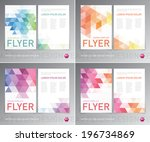 abstract vector modern flyer  ... | Shutterstock .eps vector #196734869