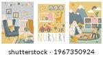 nursery room interior hand... | Shutterstock .eps vector #1967350924