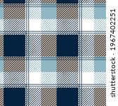 checkered shirt fabric pattern... | Shutterstock .eps vector #1967402251