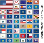 flags of american states | Shutterstock .eps vector #196742831