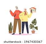 senior couple buy house. elder... | Shutterstock .eps vector #1967430367