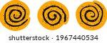 cinnamon rolls with sugar. set...   Shutterstock .eps vector #1967440534