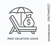 paid vacation flat line icon.... | Shutterstock .eps vector #1967444527