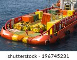 loading of cargo on deck of a... | Shutterstock . vector #196745231