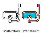 scuba diving mask line icon...   Shutterstock .eps vector #1967481874