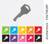 key icon   vector | Shutterstock .eps vector #196748189