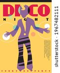 disco party pop art style... | Shutterstock .eps vector #1967482111