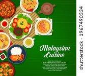 malaysian cuisine food ... | Shutterstock .eps vector #1967490334